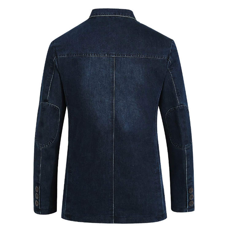 Nutsima Denim Jacket Men Cotton Casual Slim Fit Autumn Winter Mens Jeans Jackets Hombre Plus Size Jaqueta Masculina at Amazon Mens Clothing store: