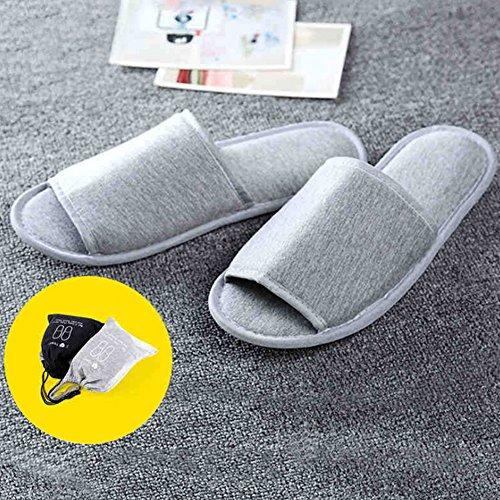 Chausson Maison Sandales Slipper Chaussure Pliable Coton en Souple Portable Restaurant Plates Pantoufle Déplacement Unisexe Noir Hôtel LONTG amp;blanc Voyage wqYRpp