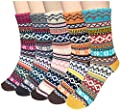 Womens 5 Pairs Winter Wool Socks Cold Weather Soft Warm Thick Knit Casual Crew Socks