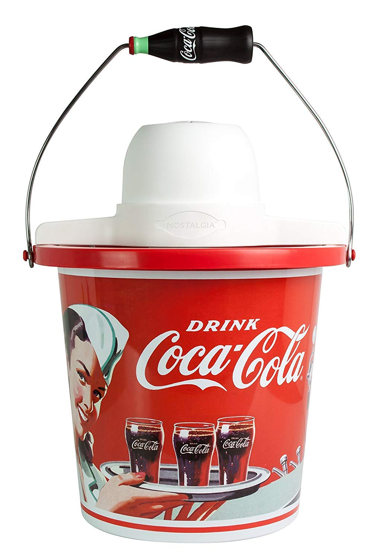[Nostalgia] [Nostalgia ICMP400COKE Coca-Cola Limited Edition 4-Quart Ice Cream Maker by Nostalgia] (並行輸入品)  Ice Cream Maker B07QQTRRXX