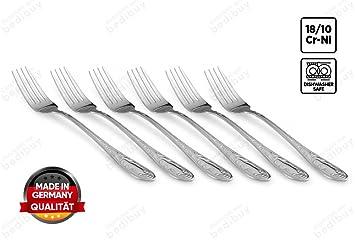18/10 de gran calidad Cubiertos Cuchara Tenedor Cuchillo kaffel Set Tenedores Cucharillas de té