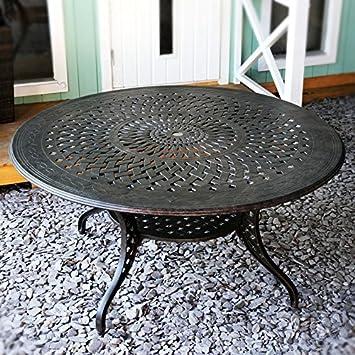 Amazon De Lazy Susan Amelia 150 Cm Runder Gartentisch Mit 6