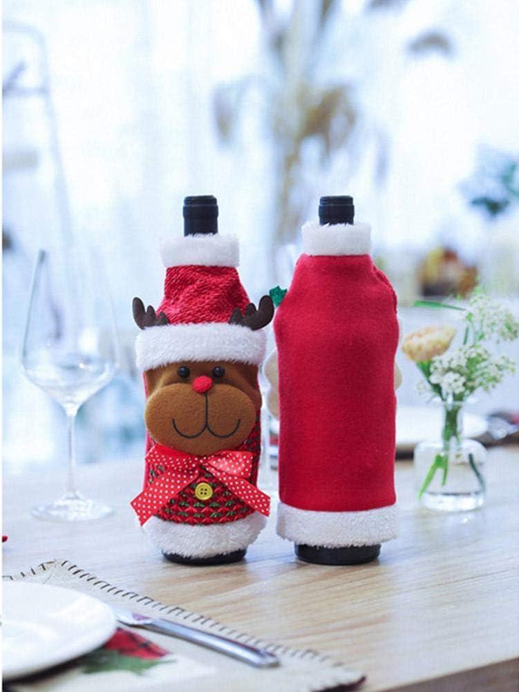 Suppemie - Juego de Accesorios para Vino de Navidad, Mantas de ...