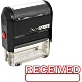 RECEIVED Self Inking Rubber Stamp - Red Ink