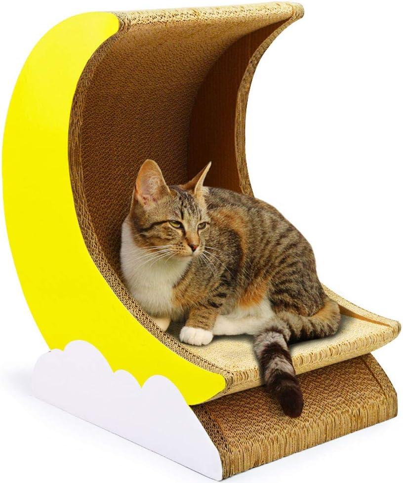 XXDYF Rascador para Gatos de cartón Caballo de Troya + Luna para Gatos, casa de Gatos, Cama de Gatos y Parque Infantil