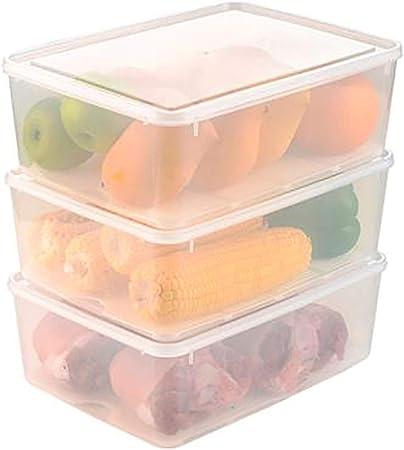 YANGQI Cajas Almacenaje Plastico Contenedores de Almacenamiento de Alimentos con Tapas Cajas Herméticas Diseño Apilable Frescura de Almacenamiento Clasificado: Amazon.es: Hogar