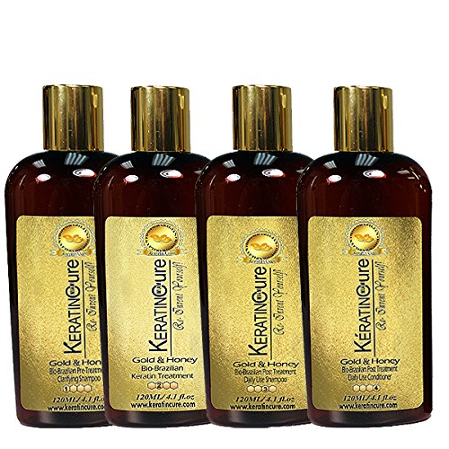 Keratin Cure 0% Formaldehyde Gold & Honey Bio-Brazilian Prof