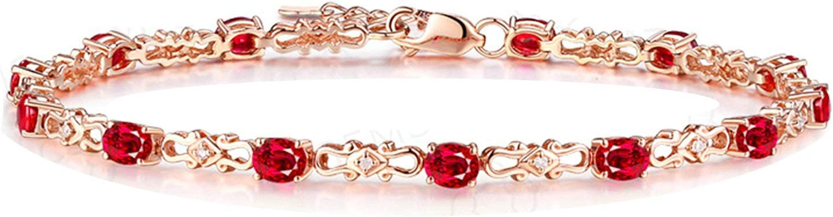 Aooaz Jewelry 18K Gold Bracelets For Lady Oval-Shape Anniversary Holiday Link Bracelets