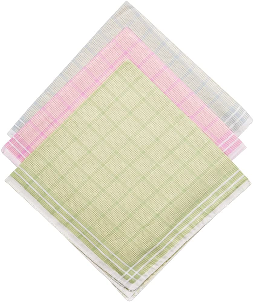 Mens Handkerchiefs,100/% Soft Cotton Hankie,Pack of 12