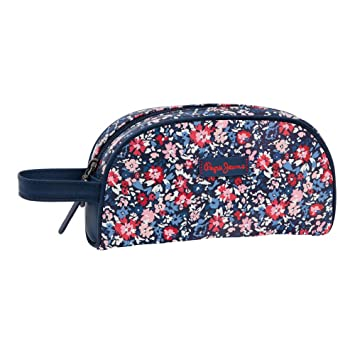 2dce213074a Pepe Jeans Beauty Case, 22 cm, 1.42 Liters, Blue 6464151: Amazon.co.uk:  Luggage