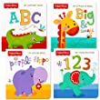 """Fisher Price """"My First Books"""" Set of 4 Baby Toddler Board Books (ABC Book, Colors Book, Numbers Book, Opposites Book)"""
