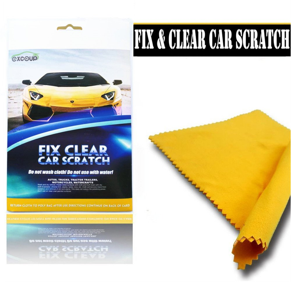 EXCOUP MAGICAL Fix Car Scratch Repair Cloth Polish for Light Paint Scratches Remover Scuffs on Surface Repair
