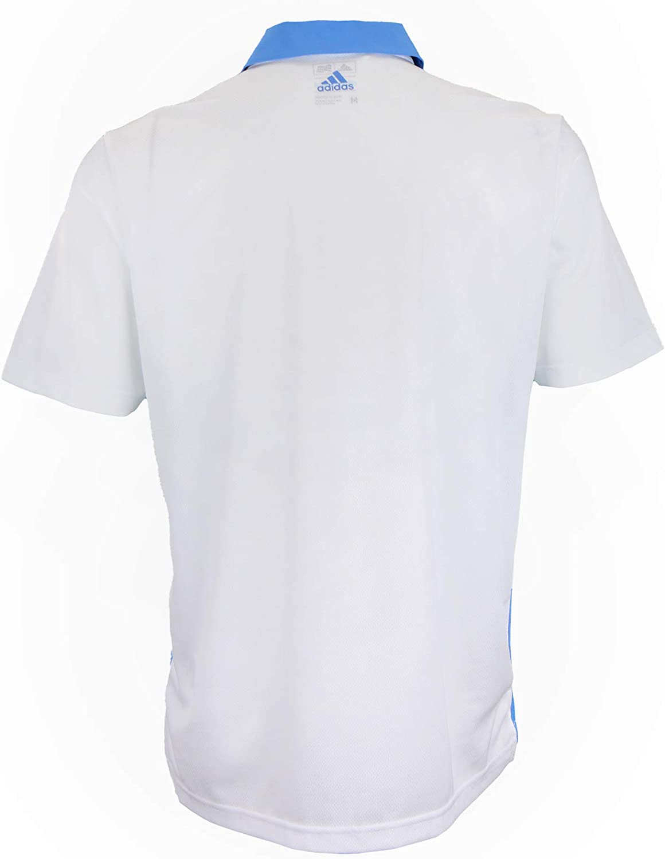 Adidas NBA Men/'s Memphis Grizzlies Performance Stripe Polo White