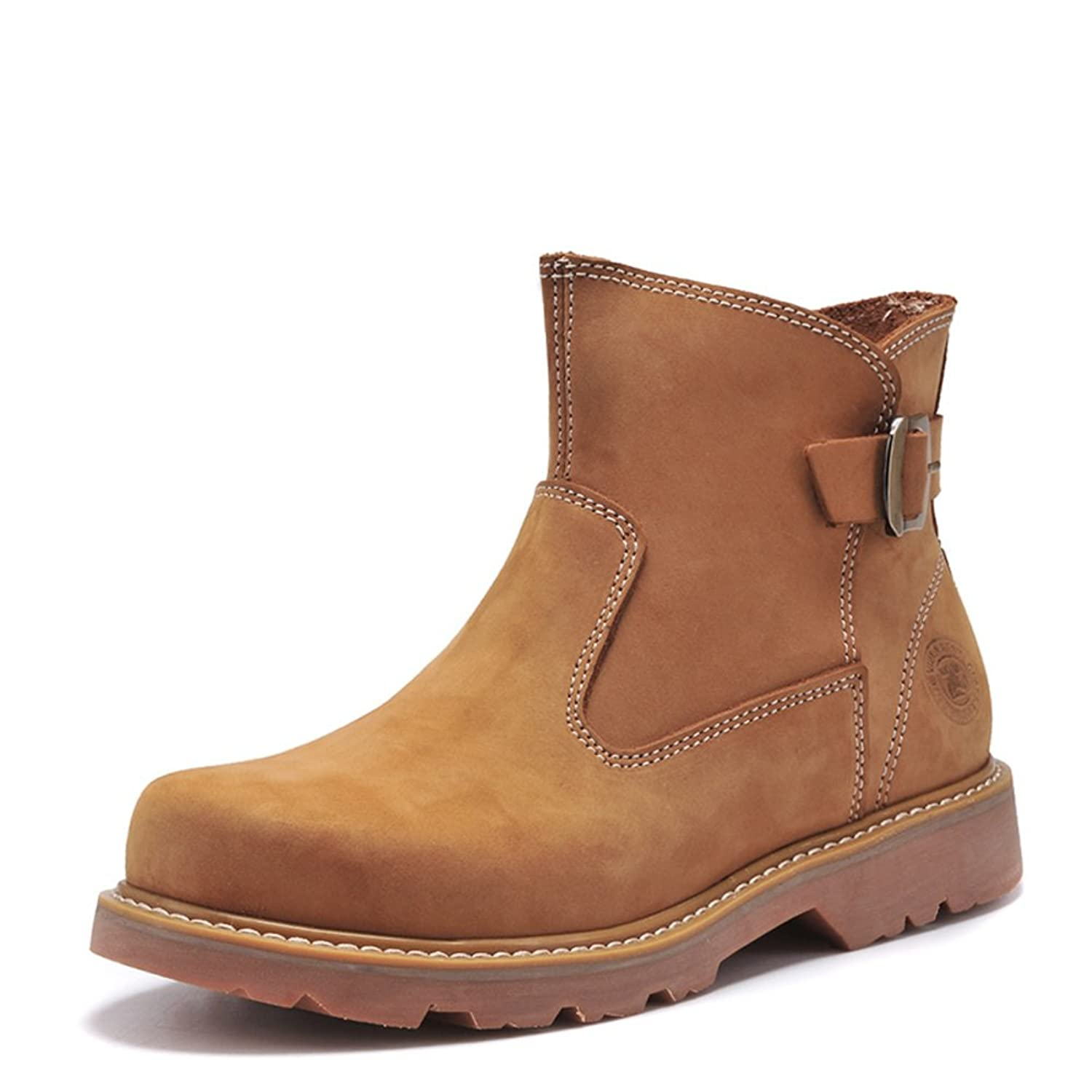 Winter leather boots men's boots Martin/Male tooling boots yellow boots/Desert boots