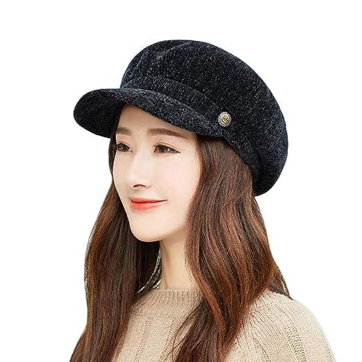 Amazon.com  VEZAD Chenille Fashion Cap Women Autumn Winter Warm Dome ... cdc1c1a895f