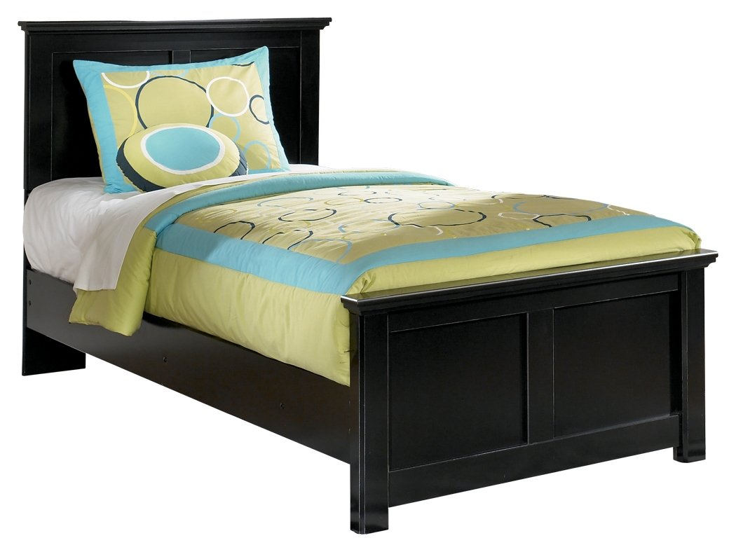 Ashley Furniture Signature Design - Maribel Vintage Casual Panel Bedset - Twin Size Bed - Black by Ashley Furniture