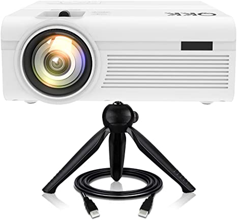 Proyector QKK [Con Trípode], Mini Proyector 3600 Lumens, Video ...