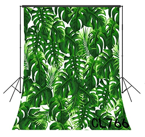 LB 5x7ft Monstera Deliciosa Banana Palm Photography Backdrop Tropical Green Plant Leaves for Party Pictures Spring Backdrop YouTube Video Photo Background Studio Props Customized CL766
