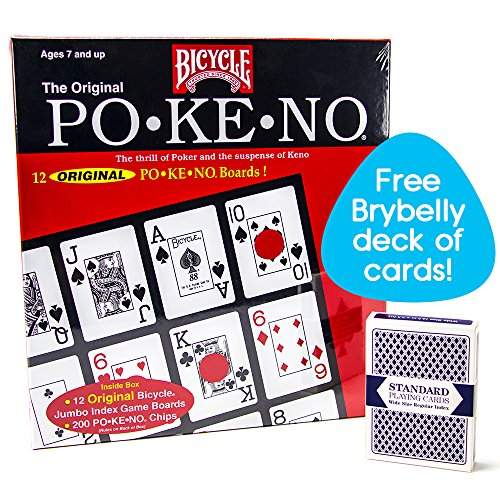Bicycle Po-Ke-No with Deck of Brybelly Playing Cards, Red by Bicycle