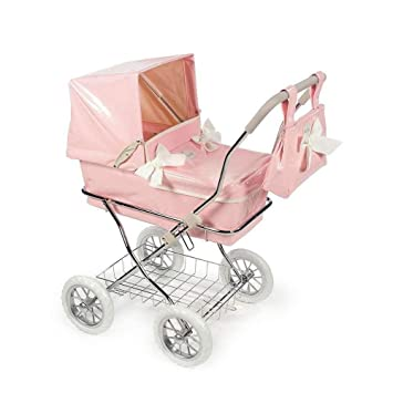 Amazon.es: La Nina 60424 - Carro de Muñecas, Color Rosa, 36-52 cm, para 4-8 años: Juguetes y juegos