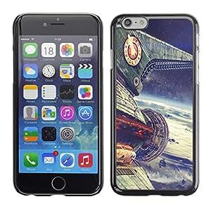 EJOY---Cubierta de la caja de protección la piel dura para el / Apple Iphone 6 Plus 5.5 / --Planet Express