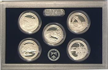 2014 Silver Proof National Park Quarter Set OGP in box