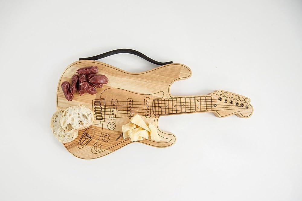 Pfiffig-Wohnen Gitarren-Motiv Brotzeitbrett