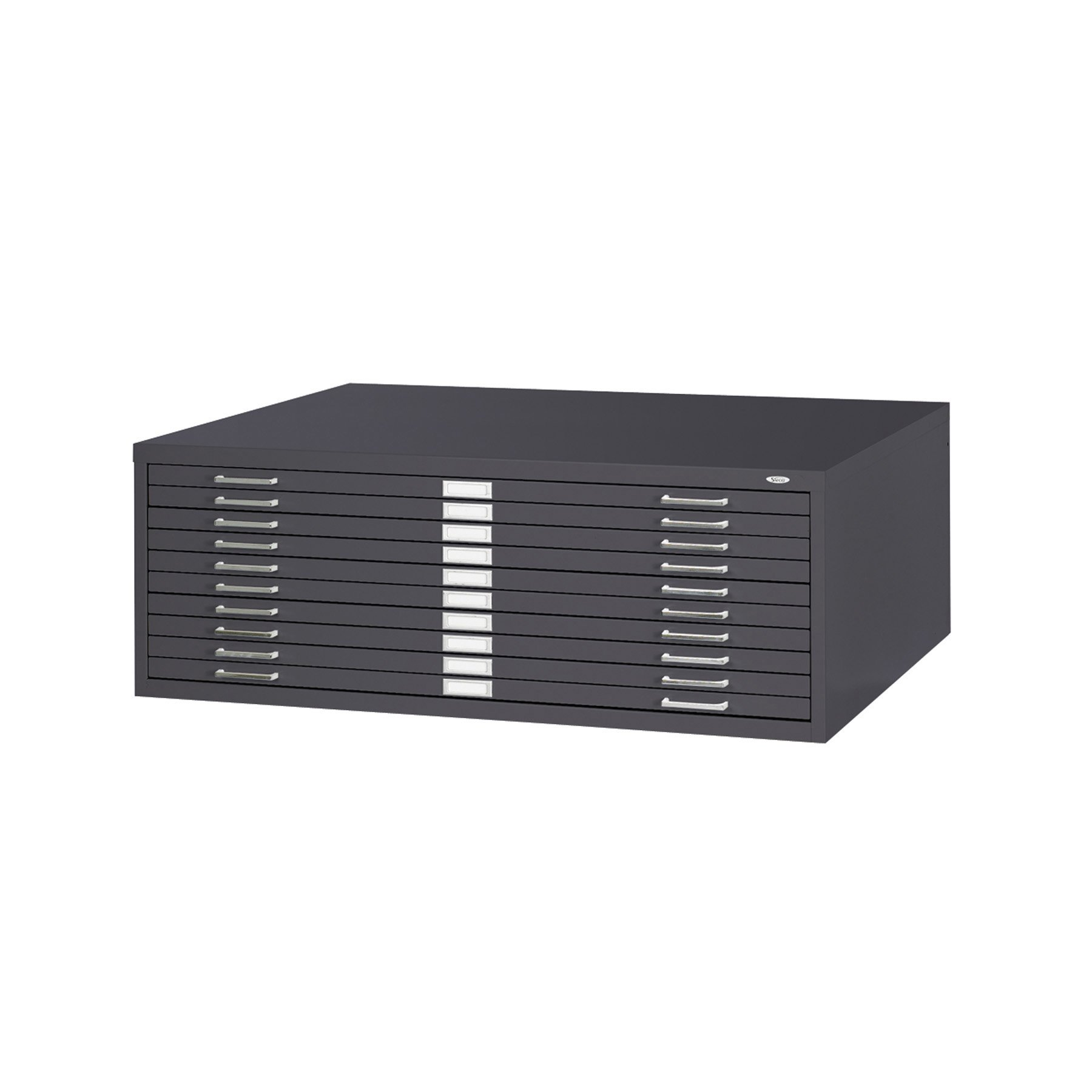Safco Products 4986BL Flat File for 42''W x 30''D Documents, 10-Drawer (Additional options sold separately), Black
