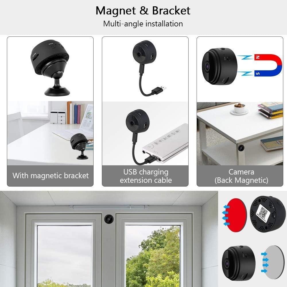 und Innenbereich Mini Kamera Bewegungserkennung und 32G SD-Karte Kabellose f/ür den Au/ßen 1080P HD Mini /Überwachungskamera Micro WiFi Akku Kleine Kamera mit Infrarot Nachtsicht