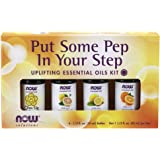 NOW Solutions Put Some Pep in Your Step Uplifting Essential Oil Kit