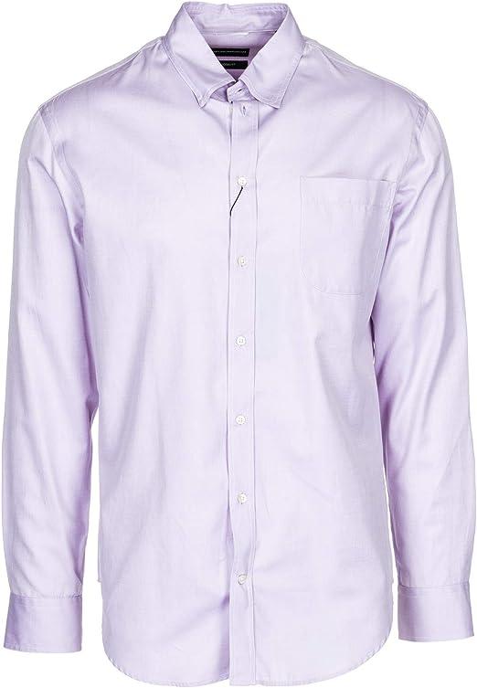 Emporio Armani Hombre Camisa Rosa 40 cm: Amazon.es: Ropa y accesorios