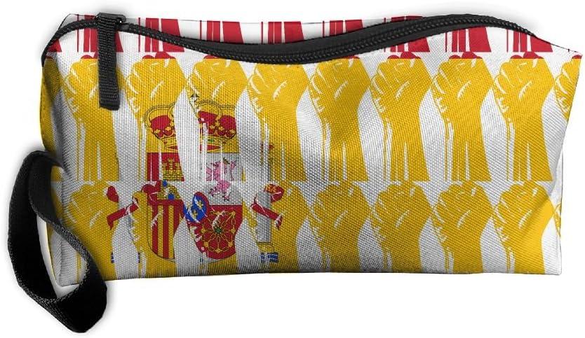 DELETIY CO.LTD Bolsa de aseo con diseño de bandera de España con cierre de cremallera, para medicina, estuche para artículos de tocador, organizador de maquillaje con cremallera: Amazon.es: Hogar