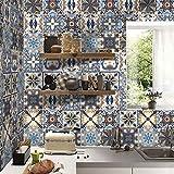 FOONEE 3D Backsplash Tile Stickers,20 X 500 Cm(7.88 X197 Inch) Spanish Waterproof Decorative Tile Stickers for Bathroom Kitchen.Furniture Decor. Easy to Install DIY.