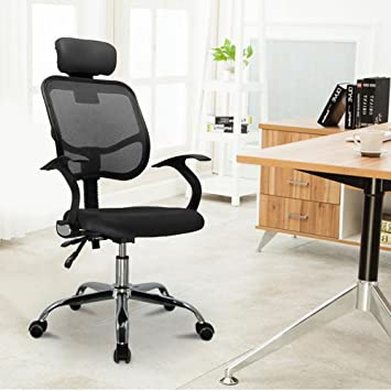 popamazing fabric mesh seat adjustable executive office computer