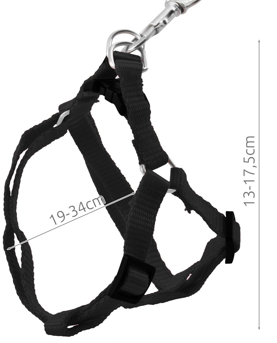Chat Iso Trade Laisse avec Harnais pour Petit Chien Noir#2624 Farbe//Color:Black Lapin