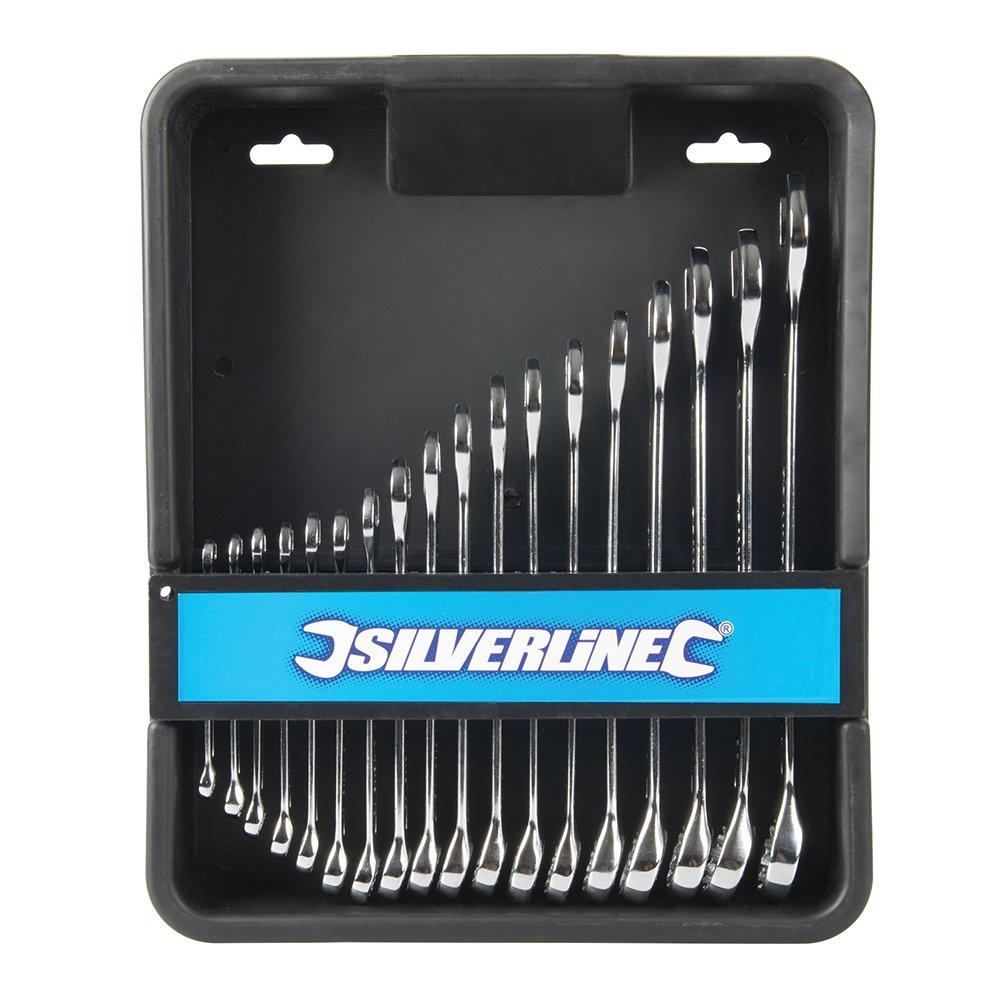 Silverline 876903 Jeu de 18 cl/és estamp/ées /à froid cr-v Multicolore