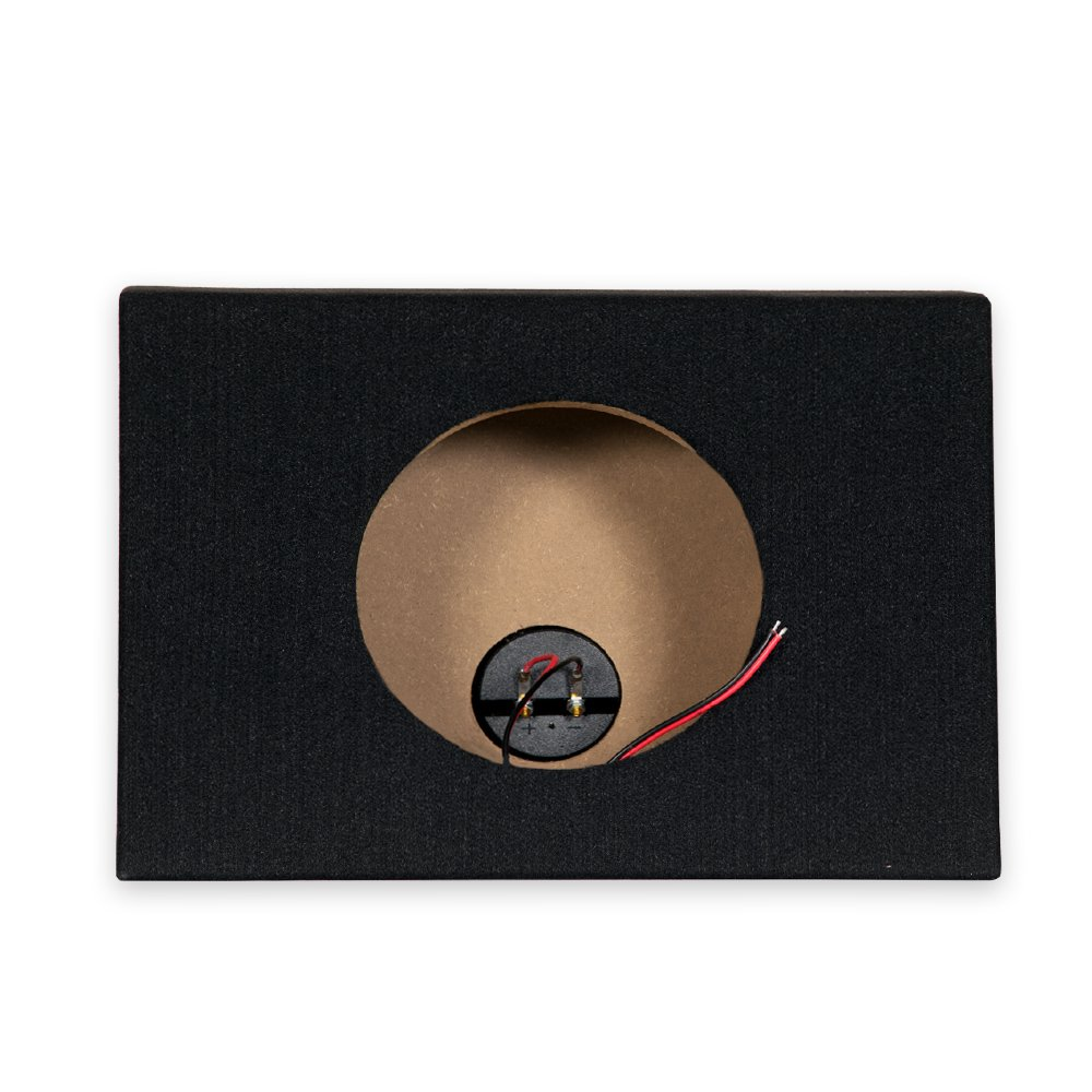 Single Car Truck Wedge Black Subwoofer Box Sealed Enclosure for 8-Inch Woofer 8F by OnlyFactoryDirect (Image #2)
