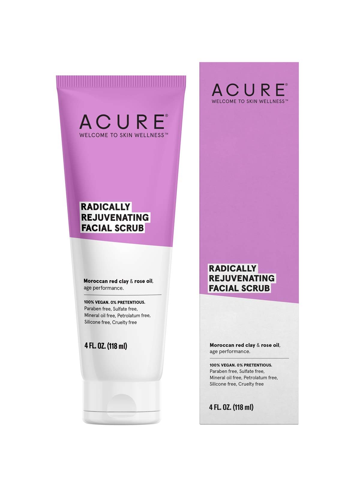 ACURE Radically Rejuvenating Facial Scrub, 4 Fl. Oz. (Packaging May Vary) by Acure
