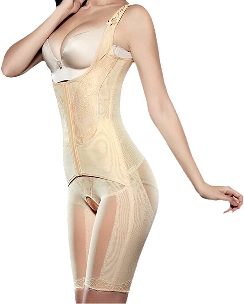 TININNA Women Full Body Shaper Bodyshaper Waist Cincher Thigh Reducer Slimming Bodysuit Shapewear Postpartum Recovery Thigh Reducer L Nude