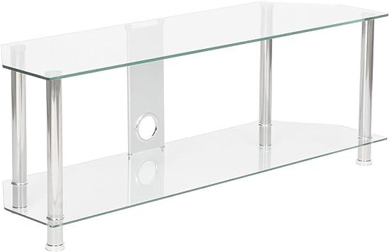 Soporte para televisor de cristal transparente con tejido 2 ...