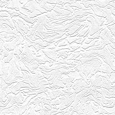 Double Roll Customizable Paintable White Swirl Wallpaper (56 sq ft)