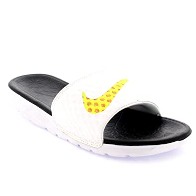 timeless design ddde3 e17dd ... shopping unisex adults nike benassi solarsoft slide 2 pool slippers  beach sandals white black c3618 92ef7