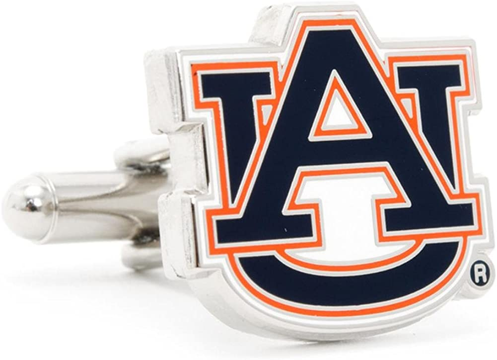 Auburn University Tigers Cufflinks Novelty 1 x 1in