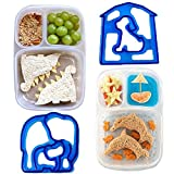 SANDWICH SHAPER - Set of 10 BPA Free Sandwich Cutters for Kids for Shaping Breads, Toasts, Cookies, Cakes, Pancakes, Puddings, Pizzas, Party Sandwiches and More!