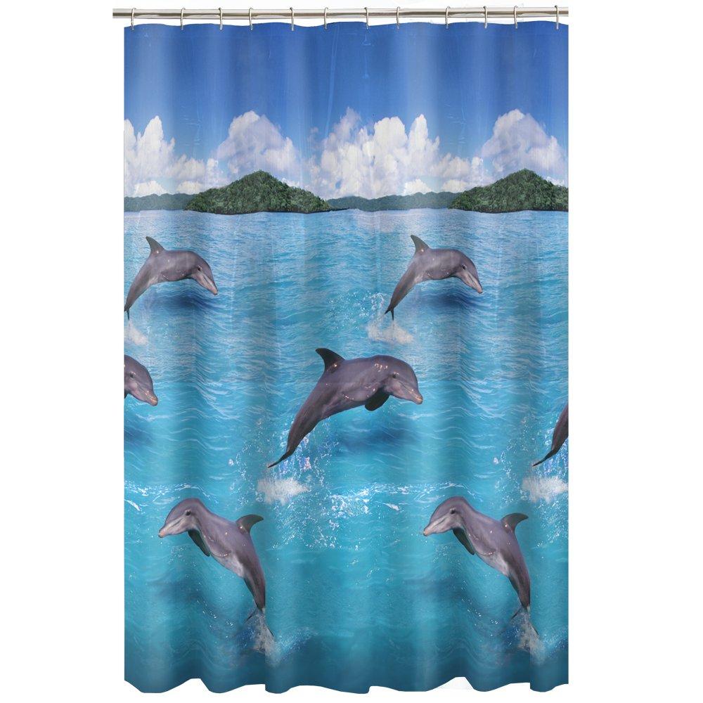 Wonderful Amazon.com: Maytex Splash Dolphin PEVA Vinyl Shower Curtain, Blue: Home U0026  Kitchen