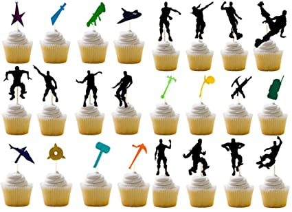 Perfect Birthday Party supplies 36 Floss Dance Cupcake Toppers
