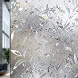 Rabbitgoo Premium No Glue 3d Static Decorative Frosted Privacy Window Films ...