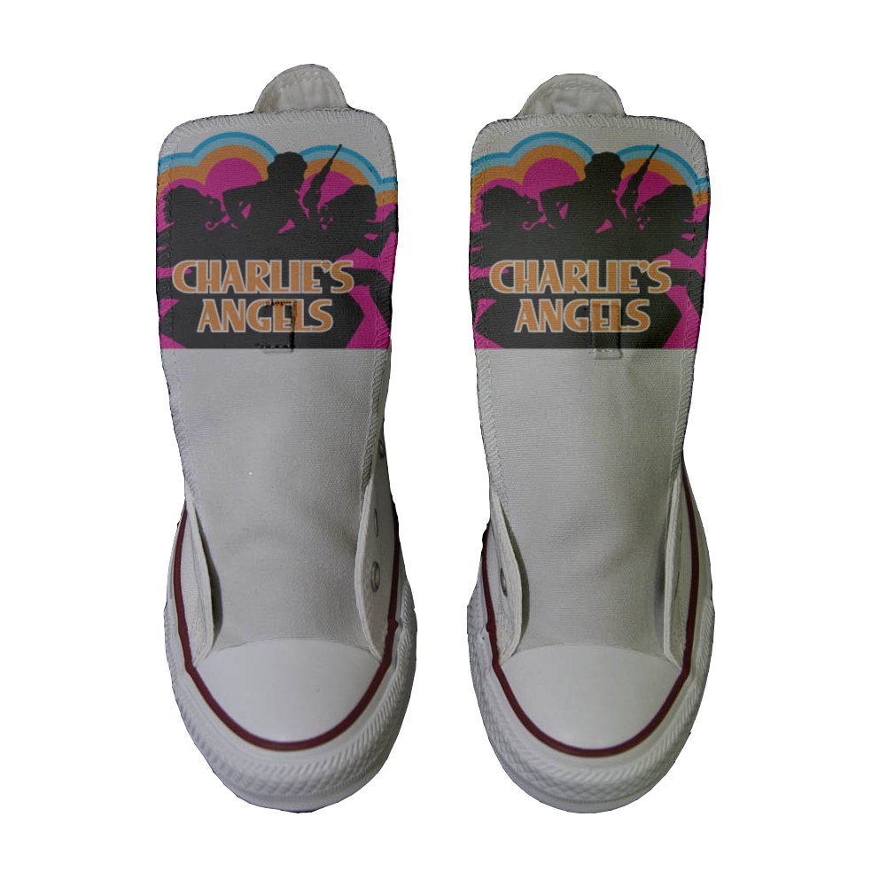 finest selection bc1b8 b808e ... Converse Women s All Star (Shoes Customized) Hand Printed Printed  Printed Italian Style Charlies Angels ...