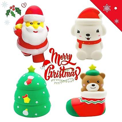 Amazon.com: Bingole Jumbo Squishies Slow Rising Kawaii Santa ...