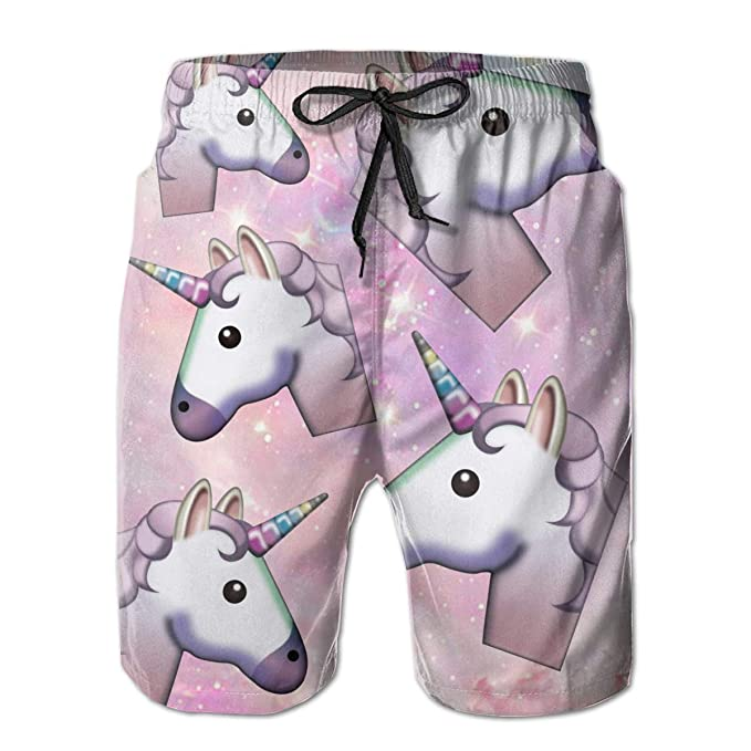 7b423cd6af Gorgeous Space Unicorn Mens Beach Pants Swim Trunks Dry Fit Board Short  with Mesh Lining